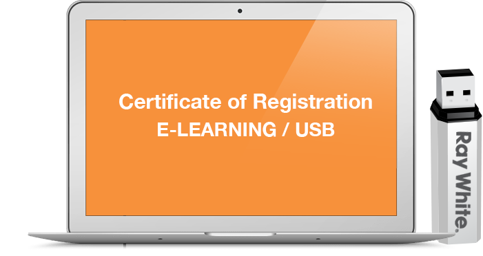 Certificate of Registration E Learning U.S.B course