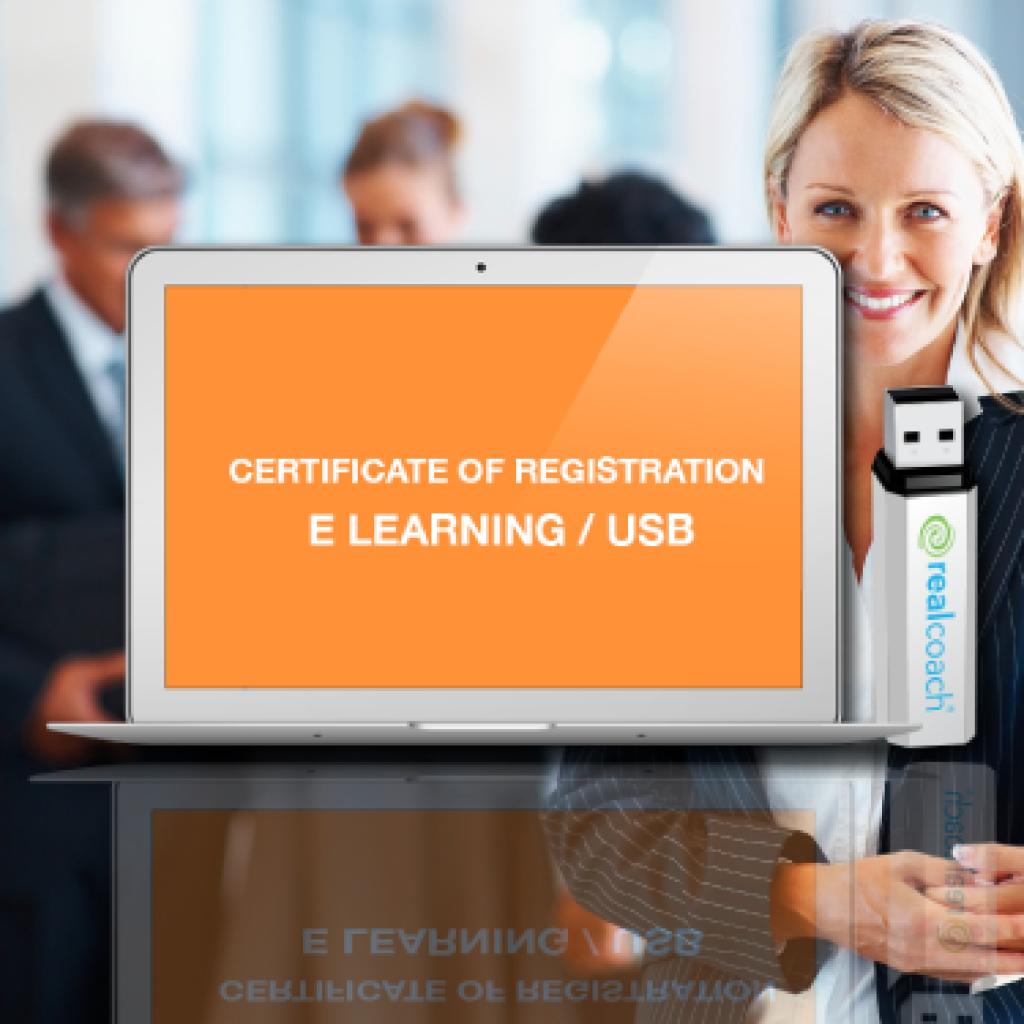 Certificate of registration E-Learning