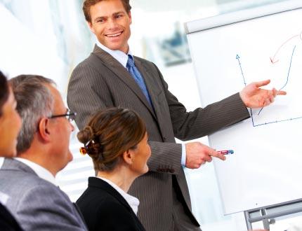 Man presenting a Seminar